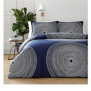 Marimekko Fokus Duvet Cover Set in Navy